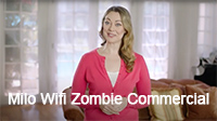 Jamie Ramage - Voiceover Talent - Male: Voices 2nd half of this commercial for Milo Wifi, featuring Laura Bohlin